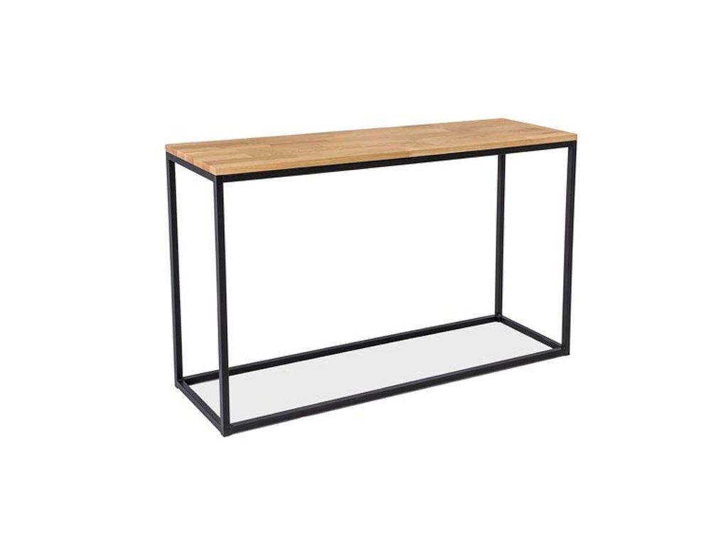 Konzolový stolek, přírodní dub / černá, LORAS K