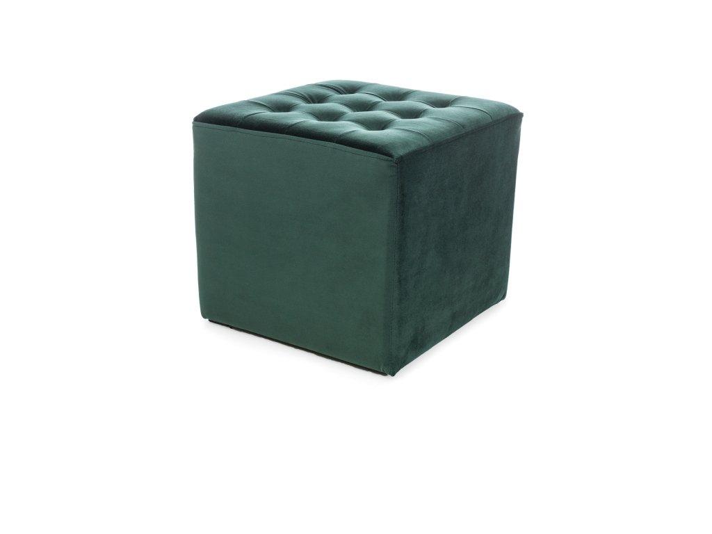 Zelený taburet LORI VELVET