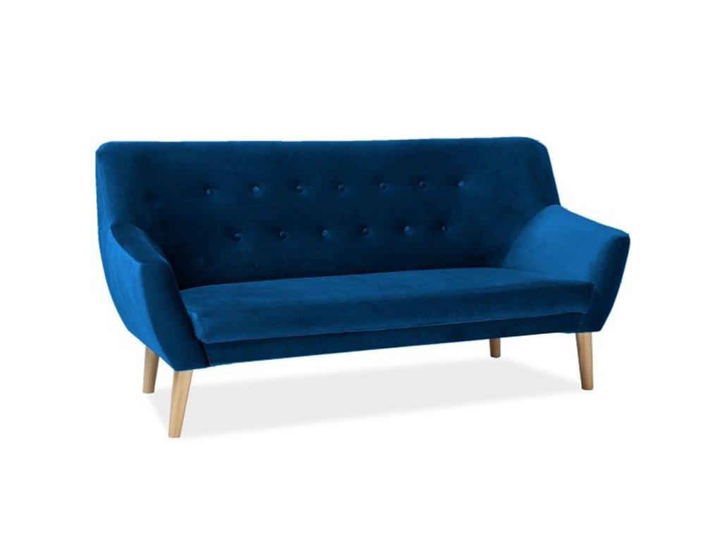 nordic3v86 sofa nordic 3 velvet kolor granat tapicerka bluvel 86 buk
