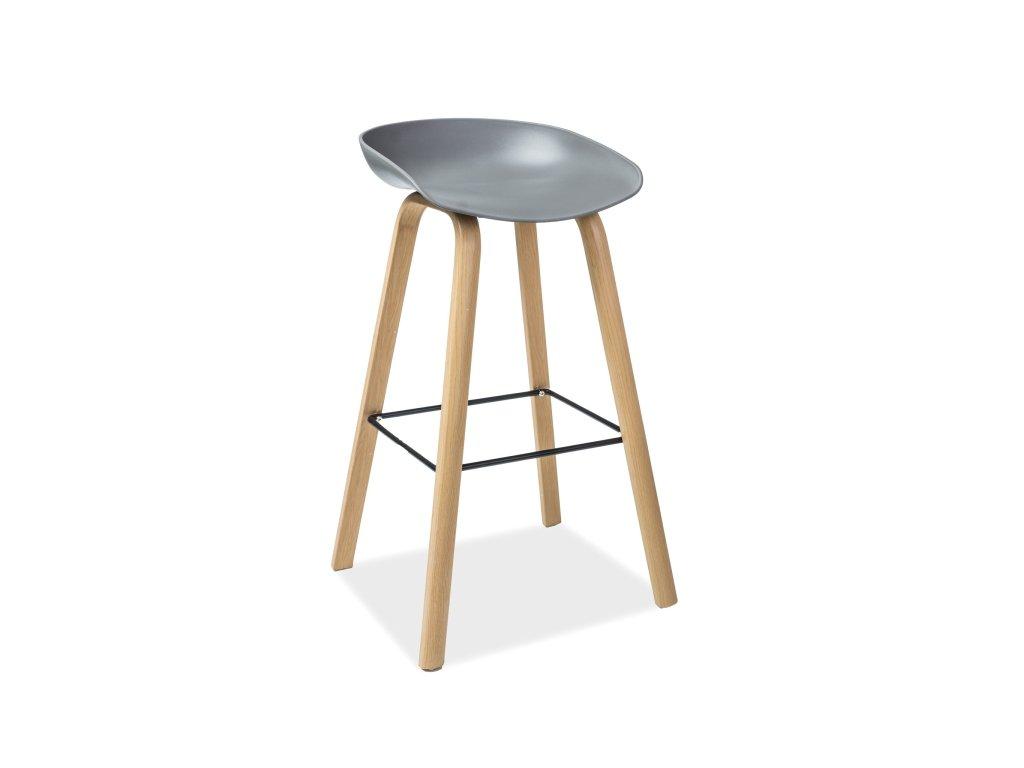 Šedá barová židle HOKER STING