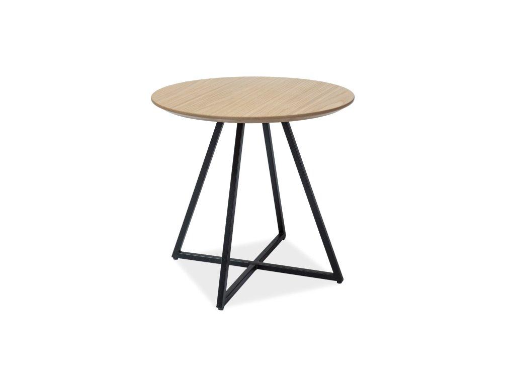 Příruční stolek, dub / černá, VITA 50X50