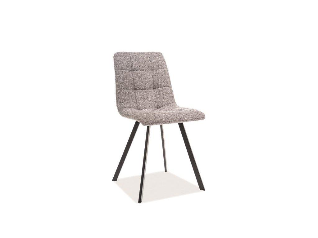 Šedá židle CLIP