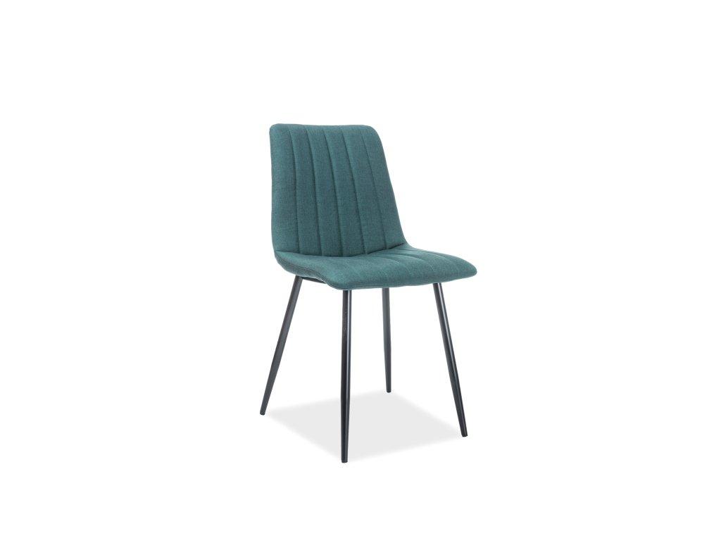 Jídelní židle, zelená / černá, ALAN