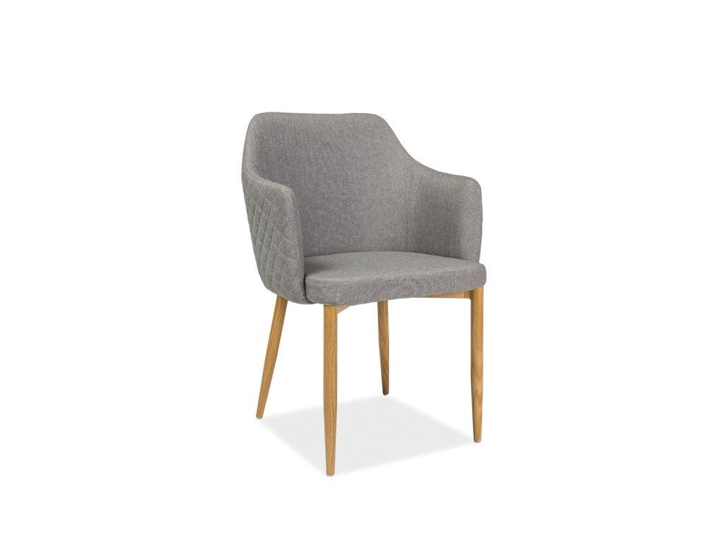 Jídelní židle, šedá / dub, ASTOR