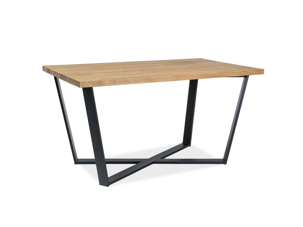 Jídelní stůl, dub / černá, BERNARDO 180x90