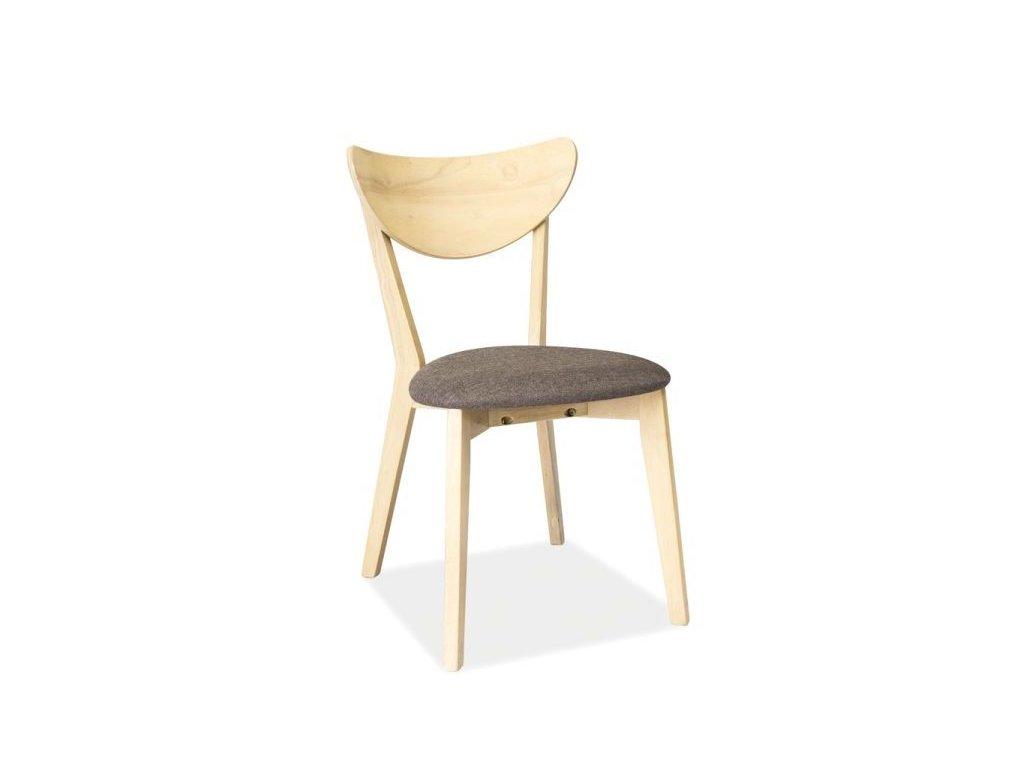 Šedá dřevěná židle CD-37