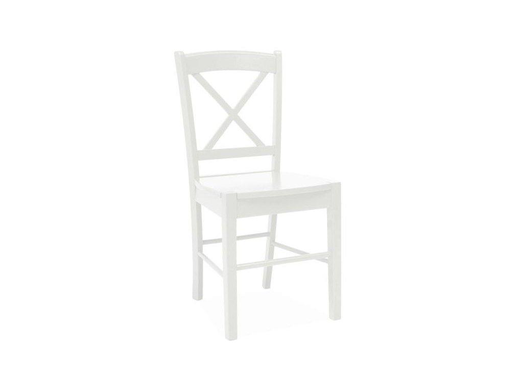 Dřevěná židle, bílá, CD-56