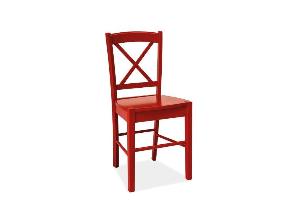 Dřevěná židle, červená, CD-56