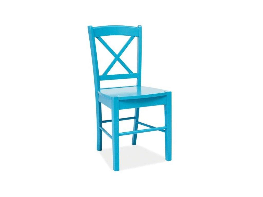 Dřevěná židle, nebesky modrá, CD-56