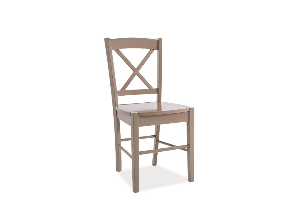 Lanýžově hnědá dřevěná židle CD-56