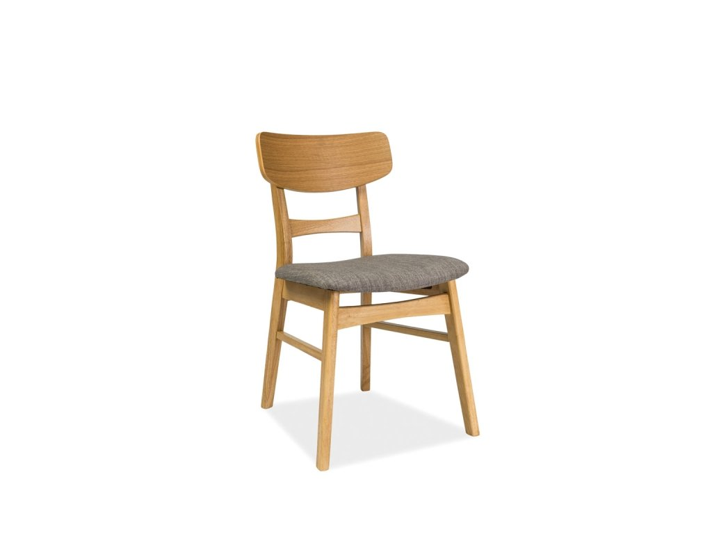 Šedá dřevěná židle CD-61