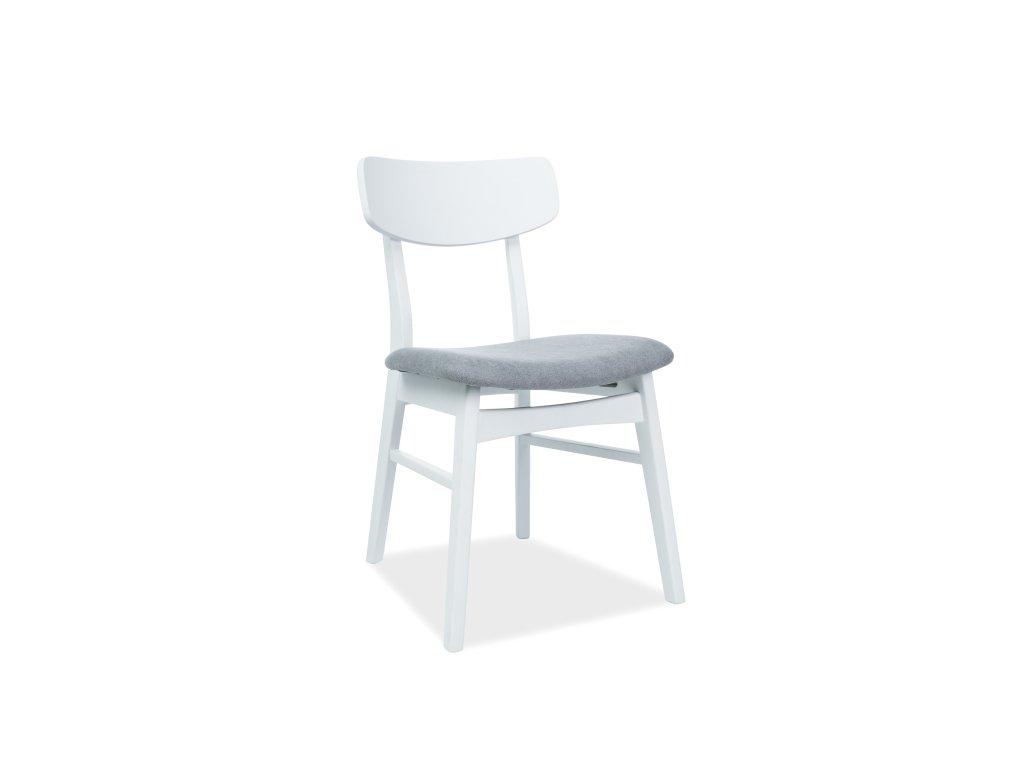 Židle, šedá / bílá, CD-62