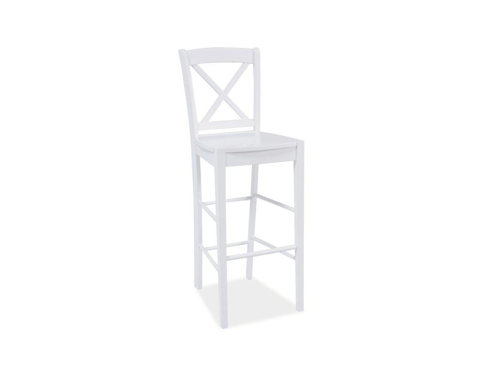 Bílá barová stolička CD-964