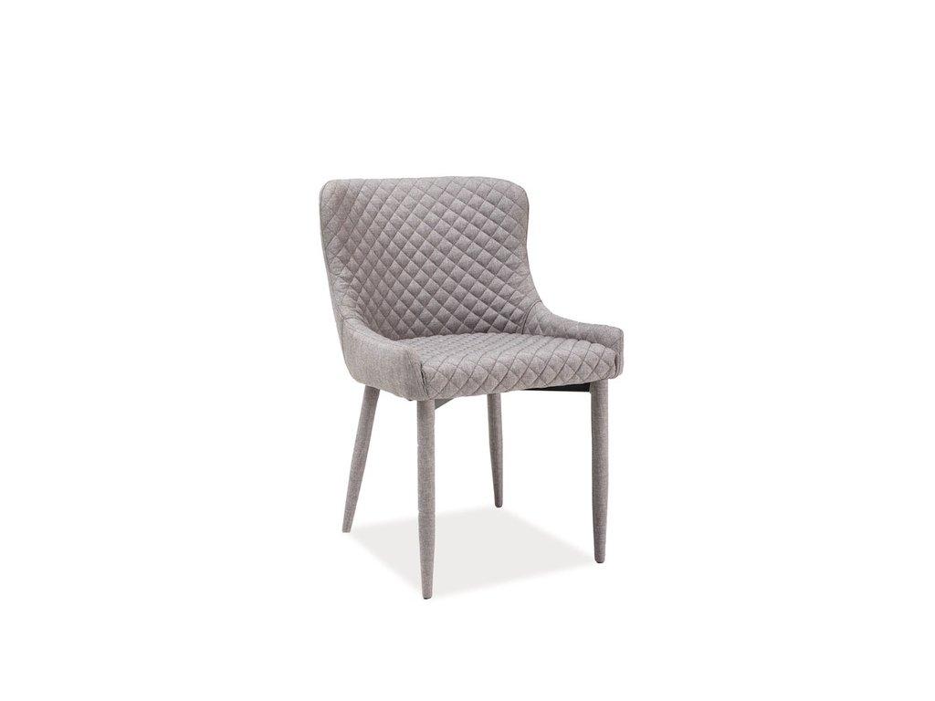 Šedá židle COLIN