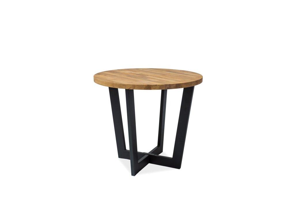 Jídelní stůl, dub / černá, CONO fi 90