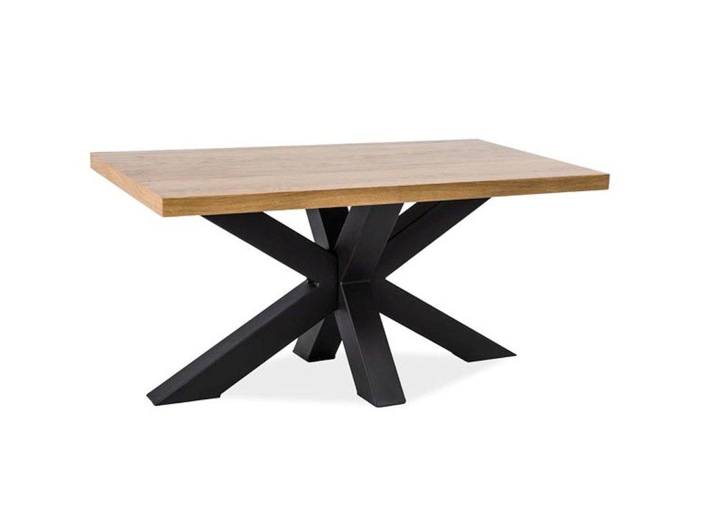 Konferenční stolek, dub / černá, CROSS B 110x60