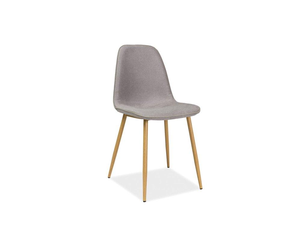 Šedá židle DUAL