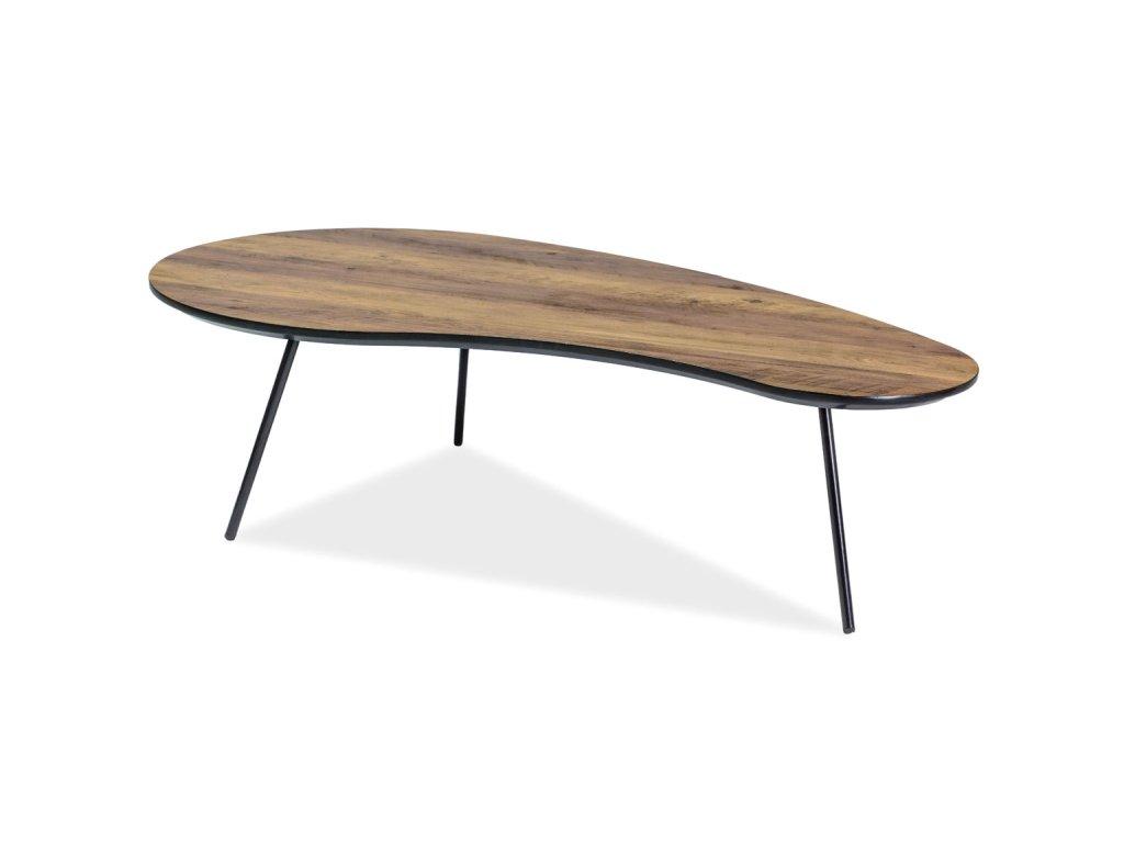 Konferenční stolek, ořech / černá, ENVO 122X67X35