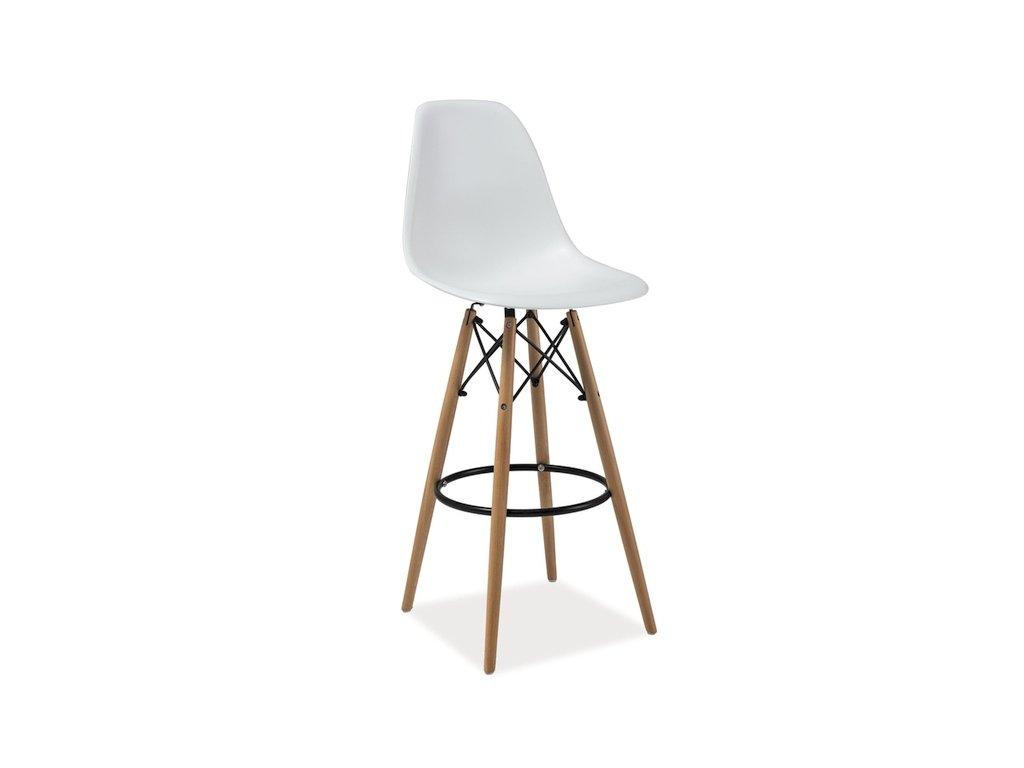 Bílá barová stolička HOKER ENZO H-1
