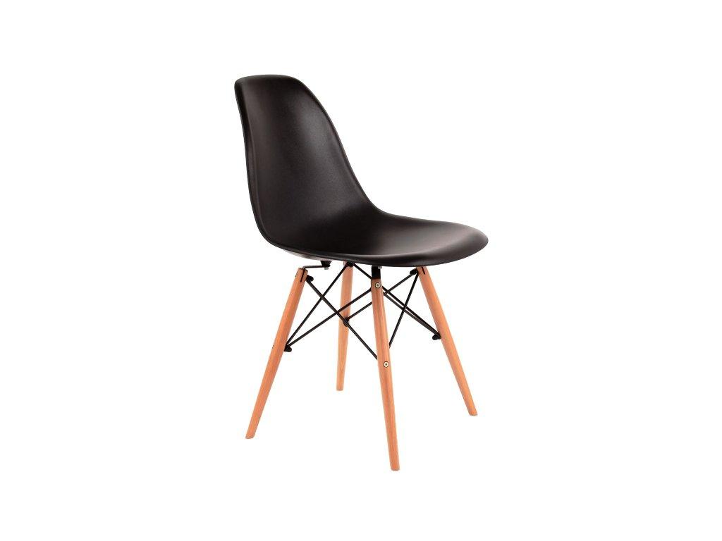 Židle, černá / buk, ENZO