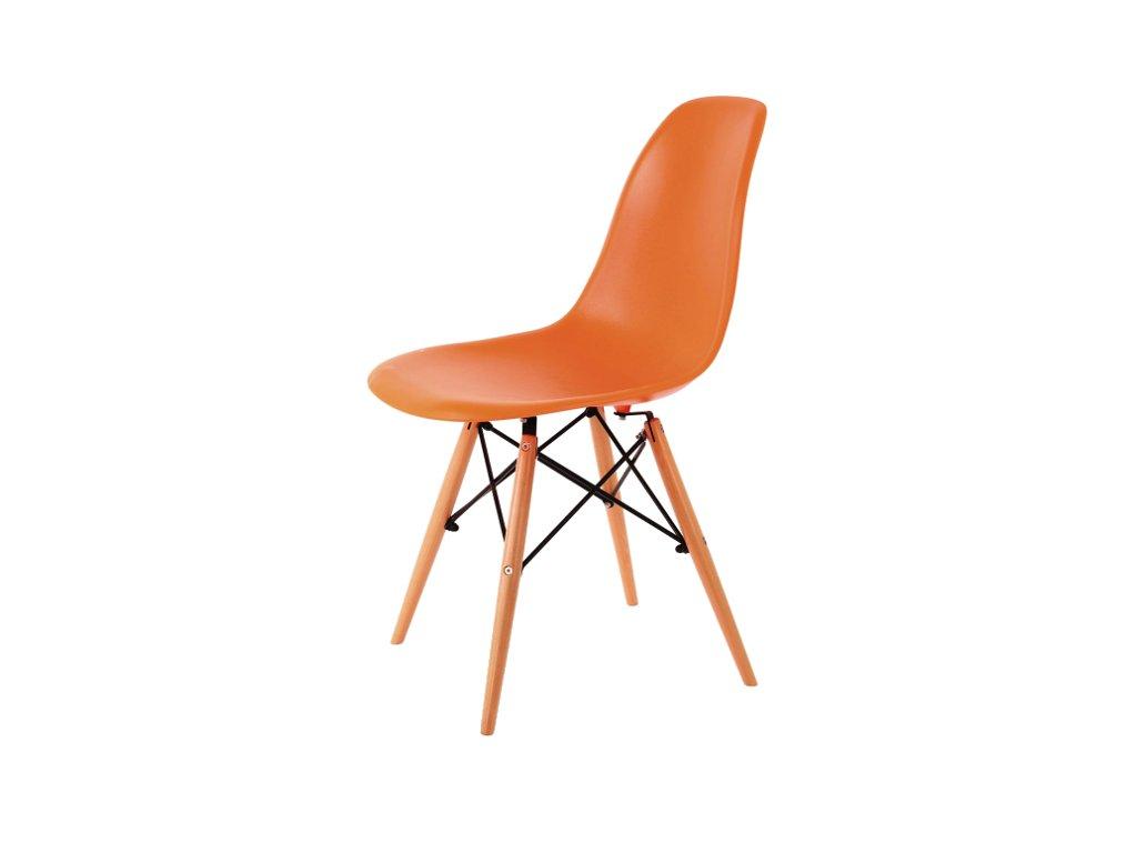 Židle, pomerančová / buk, ENZO