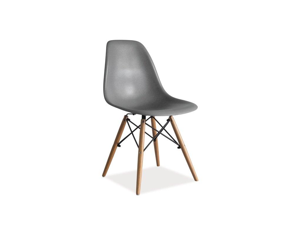 Židle, šedá / buk, ENZO