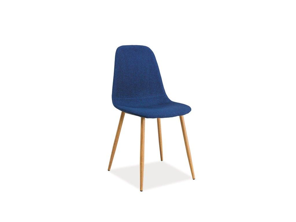 Židle, tmavě modrá / dub, FOX