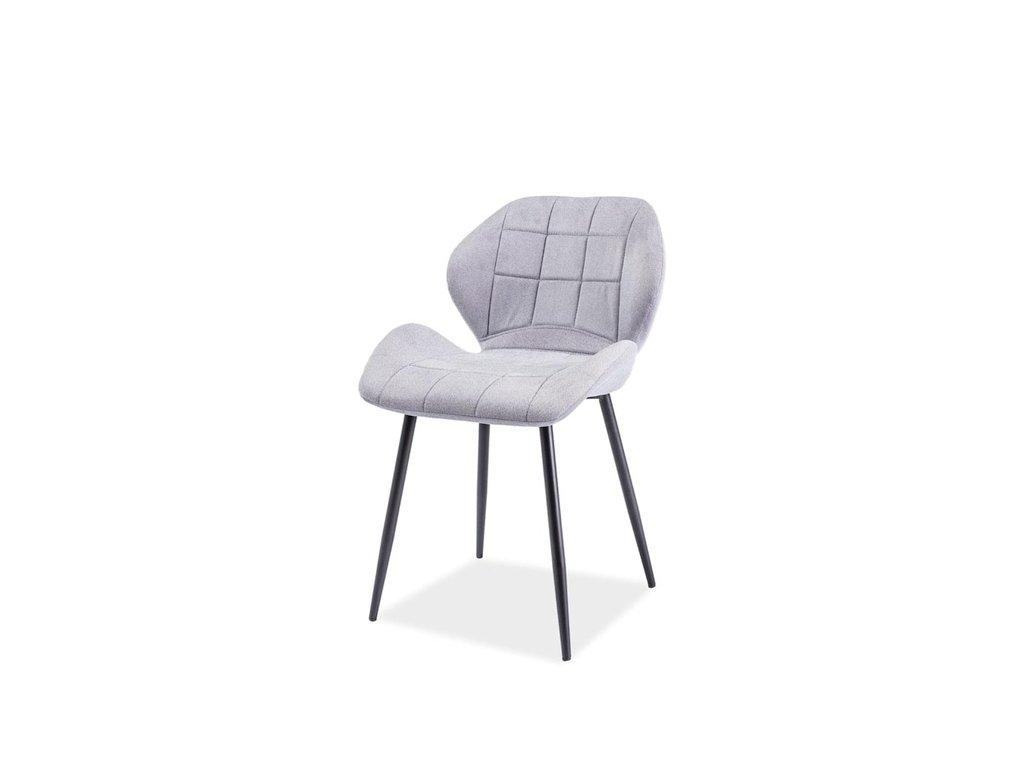 Židle, světle šedá / černá, HALS