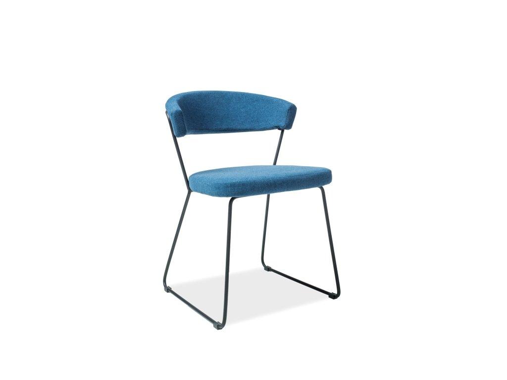 Moderní židle, nebesky modrá / černá, HELIX