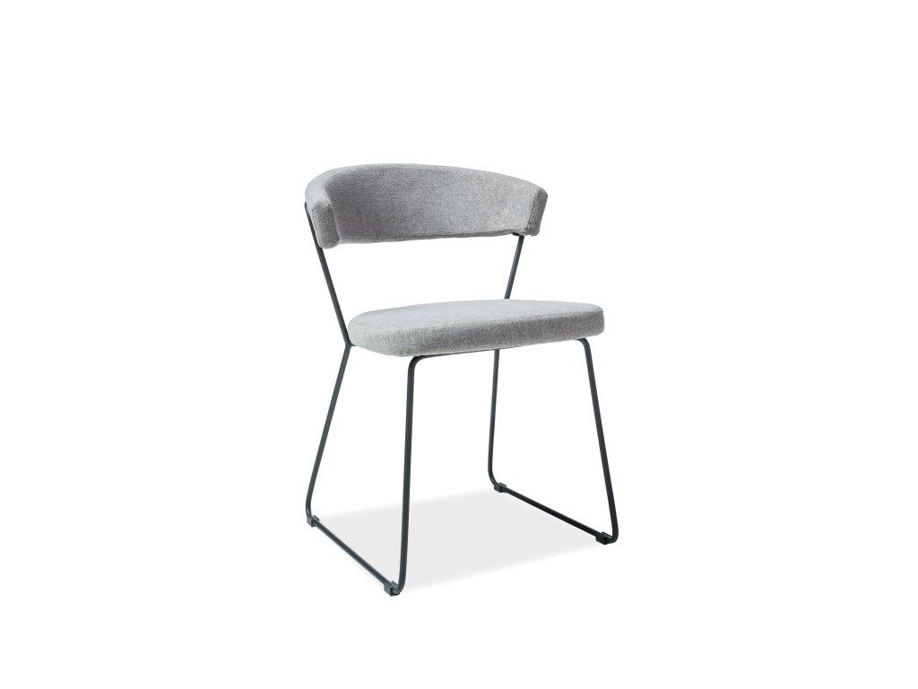 Moderní židle, šedá / černá, HELIX