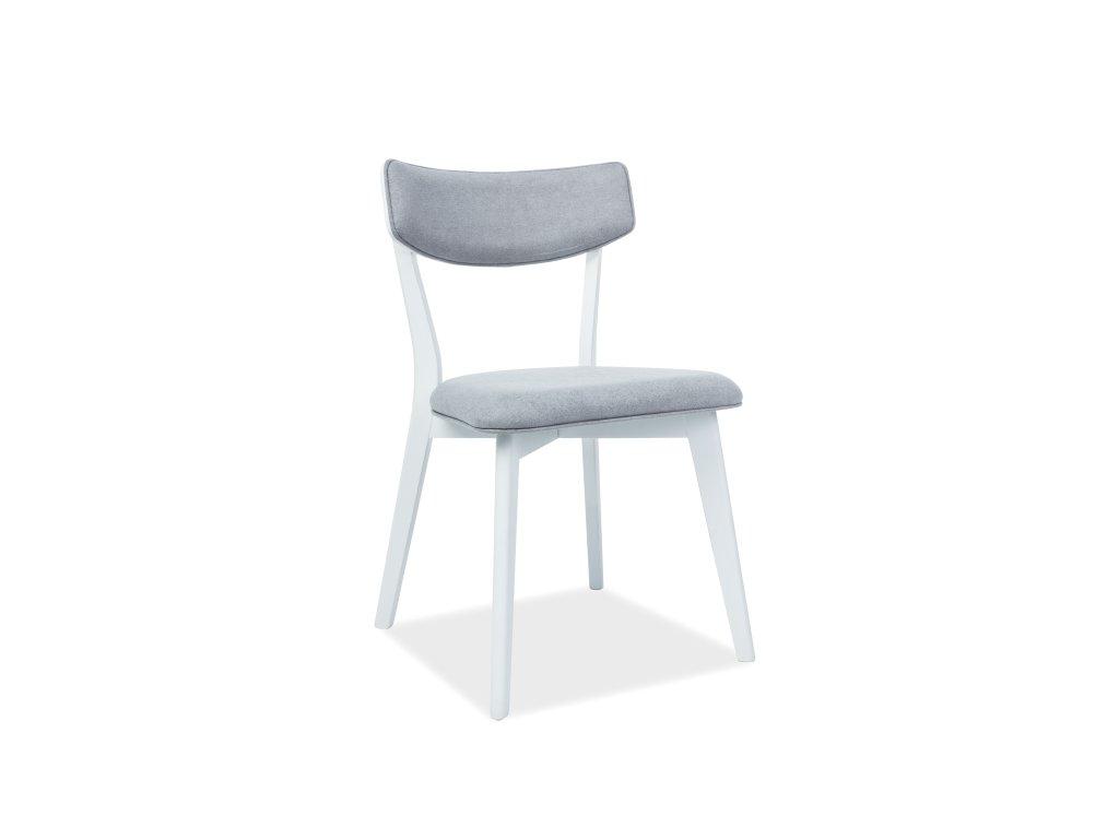 Židle, šedá / bílá, KARL