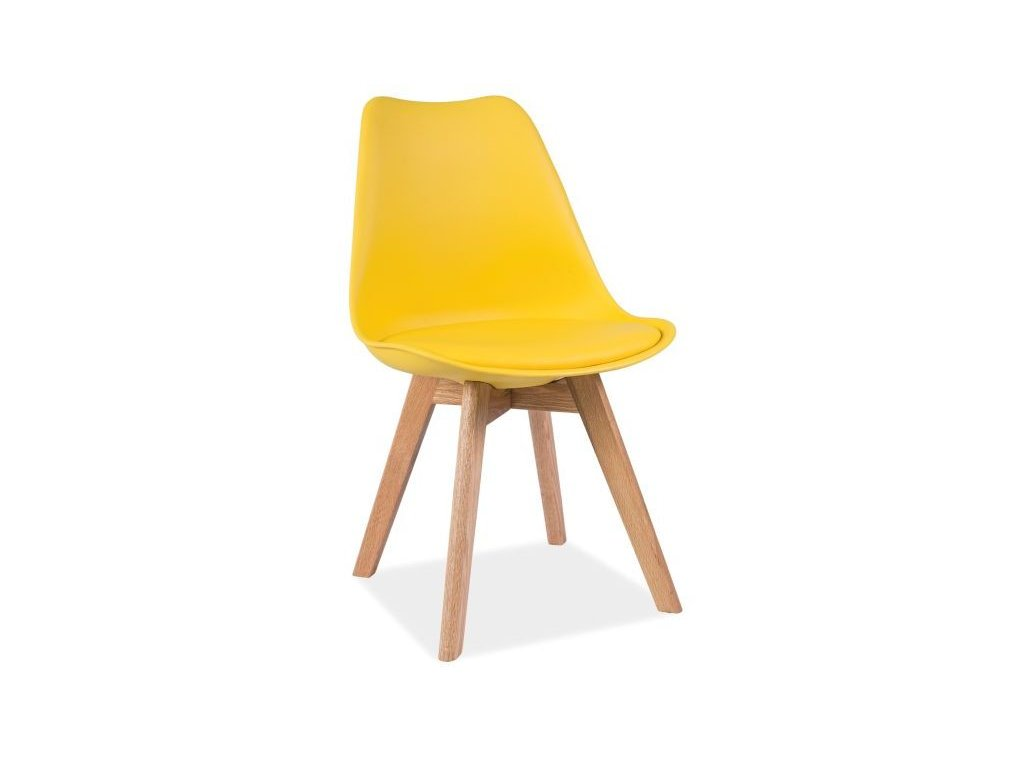 Židle, žlutá / dub, KRIS