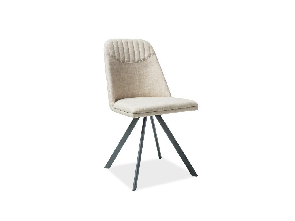 Židle, béžová / šedá, MILTON
