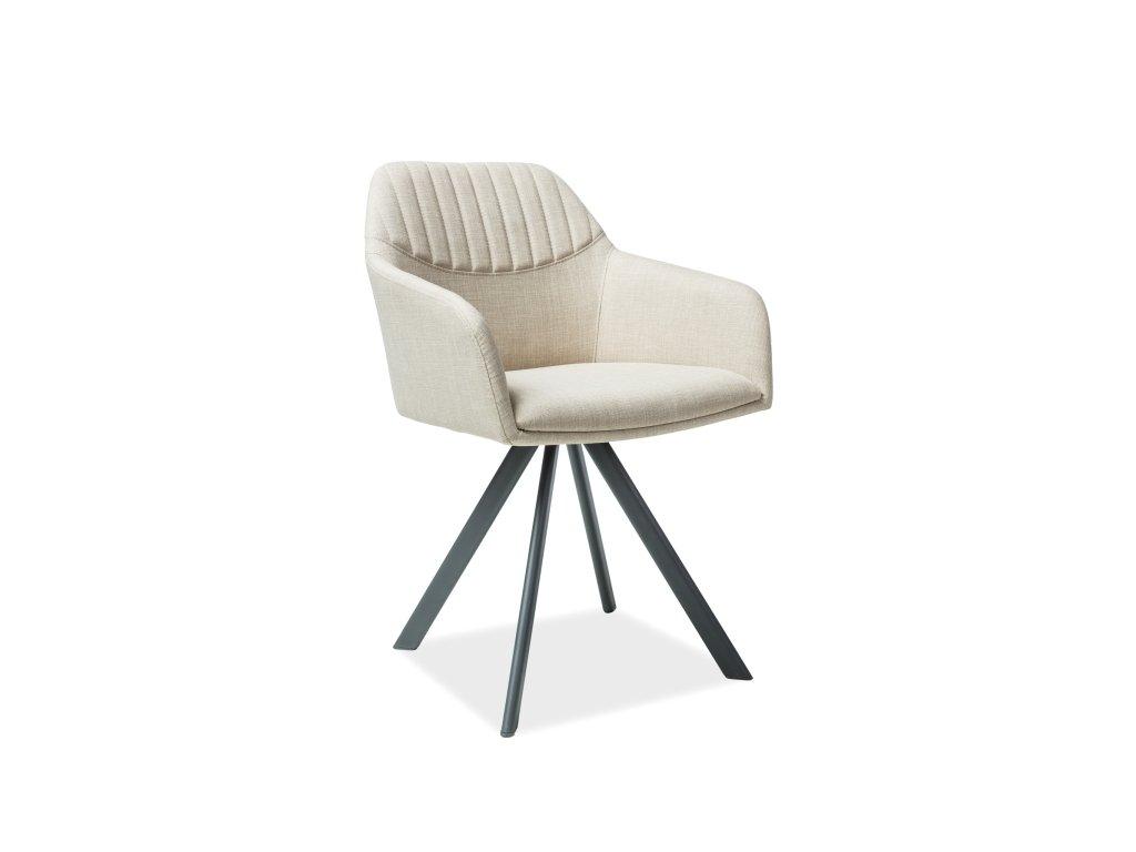 Židle, béžová / šedá, MILTON II