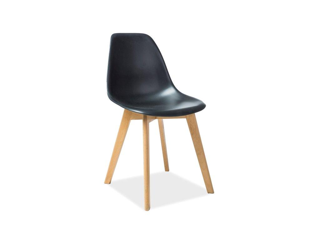 Černá židle MORIS