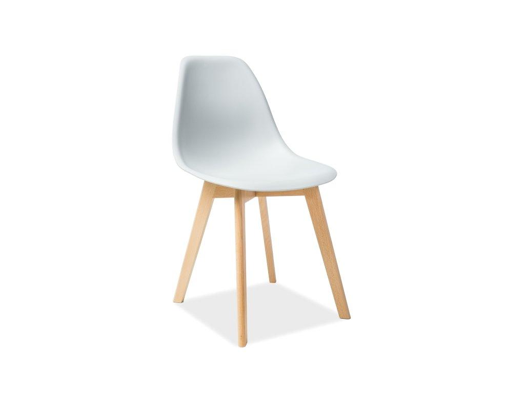 Světle šedá židle MORIS