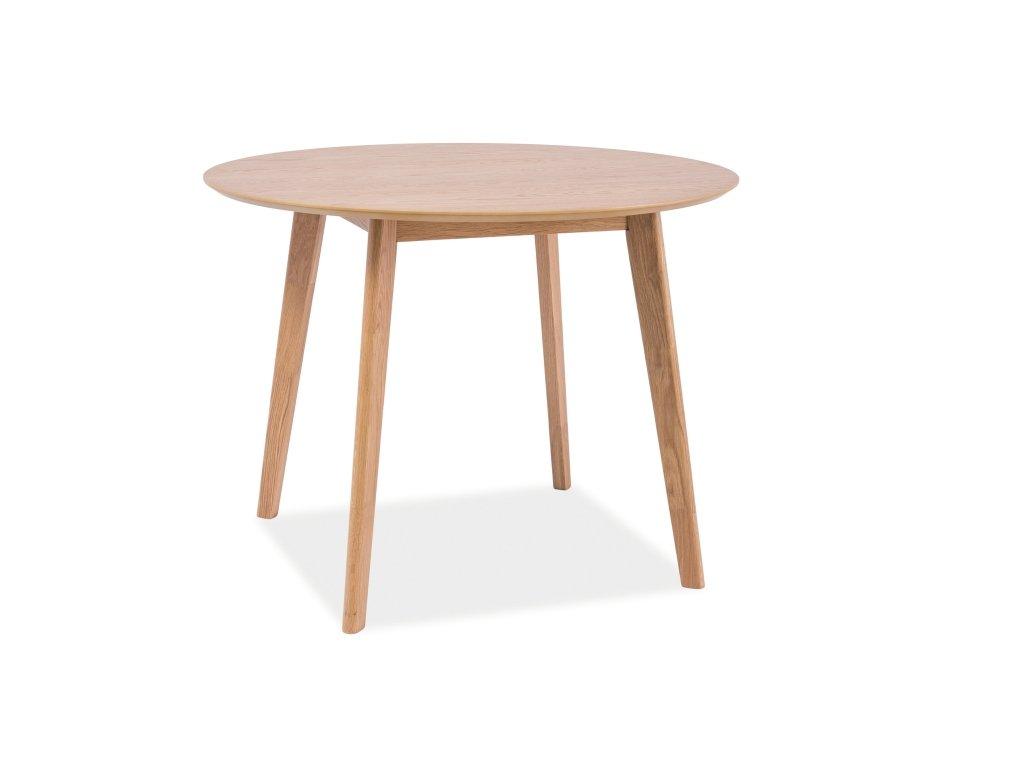 Jídelní stůl s deskou v dekoru dub MOSSO II 100x100