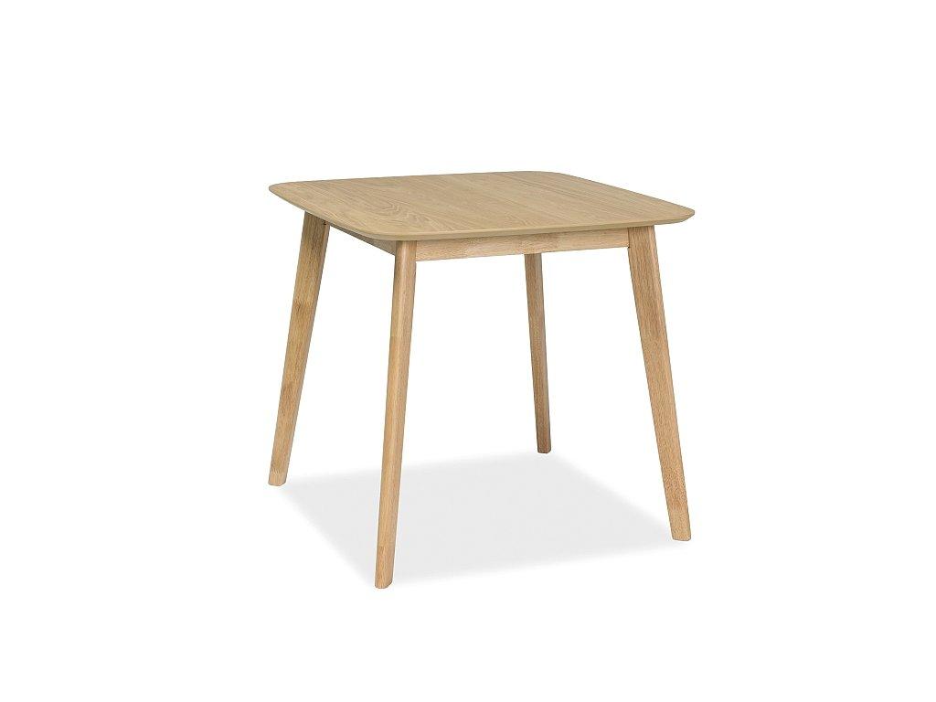 Jídelní stůl, dub, MOSSO III 80x80