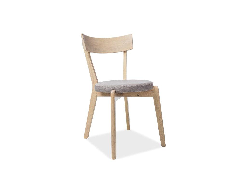 Židle, šedá / dub medový, NELSON