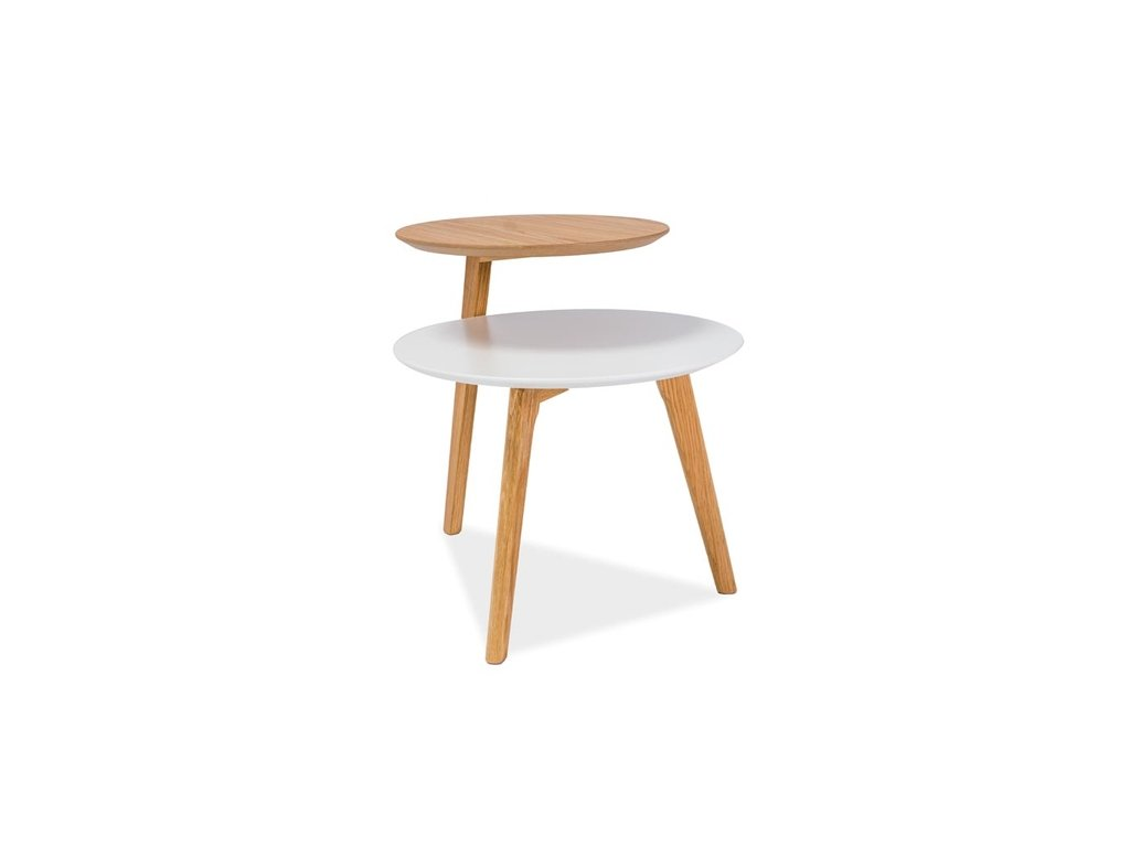 Bílý příruční stolek NEO