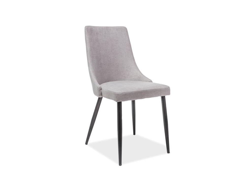 Židle, šedá / černá, NOBEL