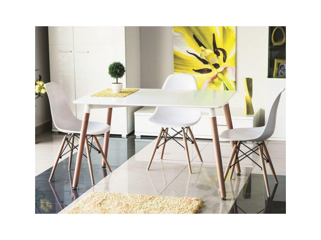 Bílý jídelní stůl NOLAN 120x80