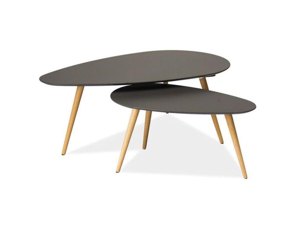 Konferenční sestava stolků, šedá / buk, NOLAN B