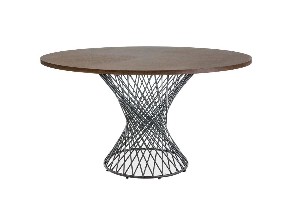Jídelní stůl, ořech / černá, ORLANDO 137X137
