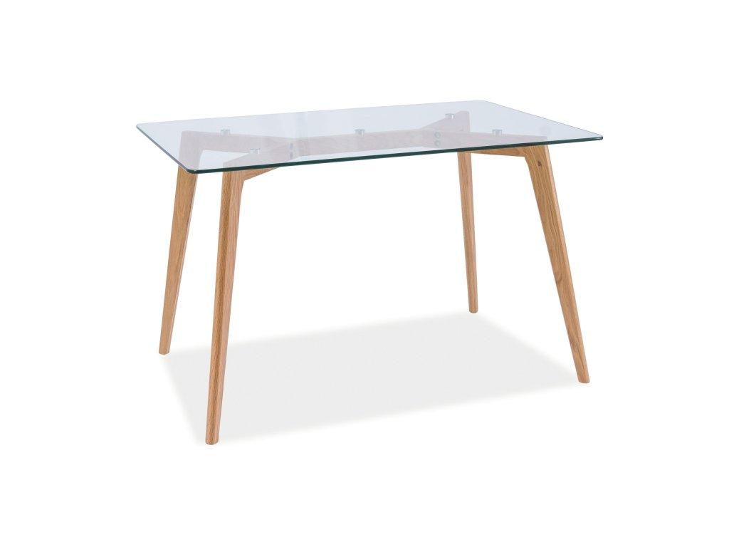 Skleněný jídelní stůl OSLO 120x80
