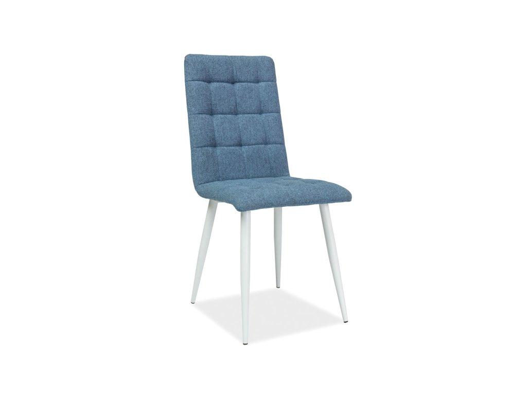 Židle, modrá / bílý mat, OTTO
