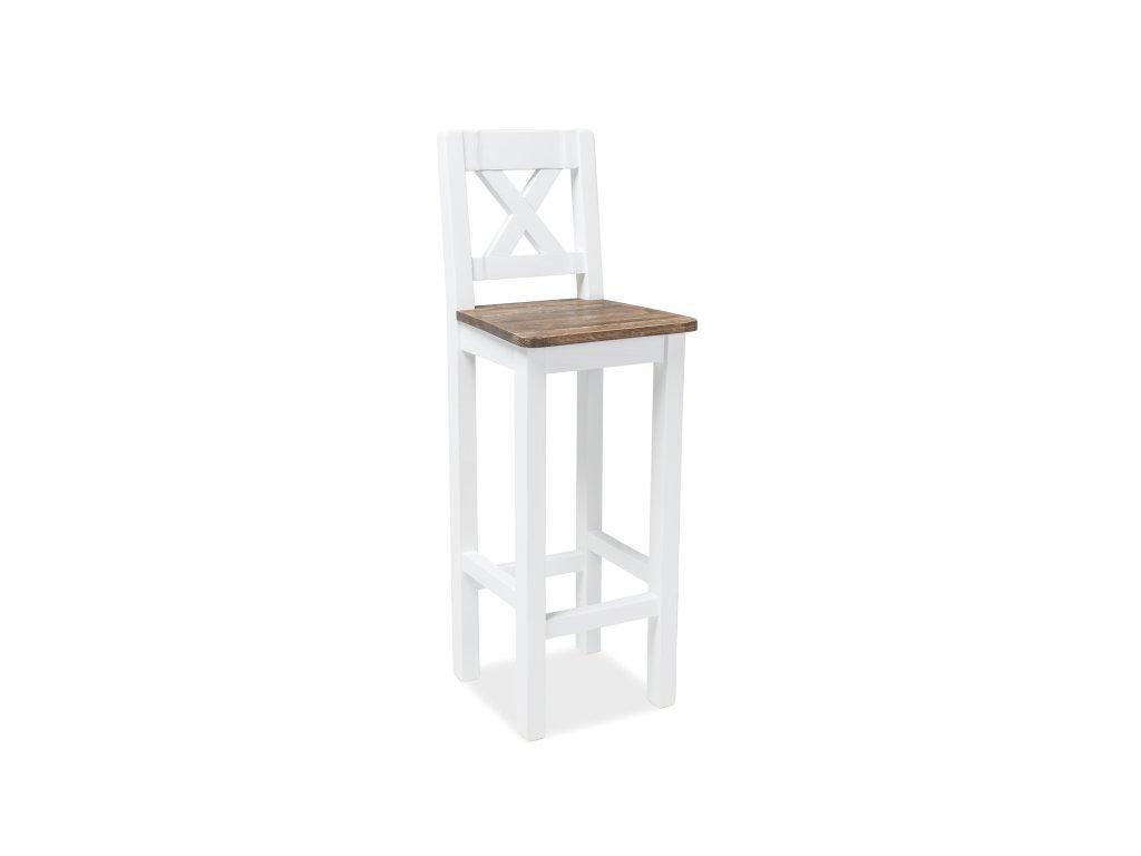 Barová stolička, hnědý vosk / bílý vosk, HOKER POPRAD