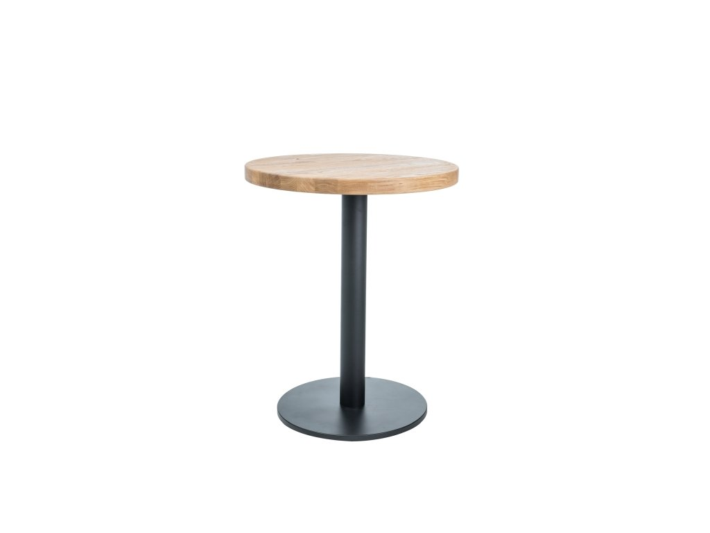 Černý jídelní stůl s dubovou deskou PURO II 60