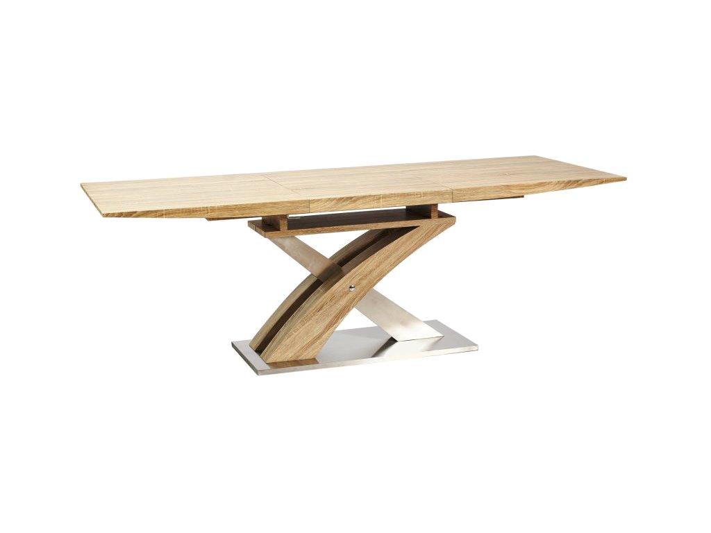 Jídelní stůl, dub, RAUL 160(220)X90