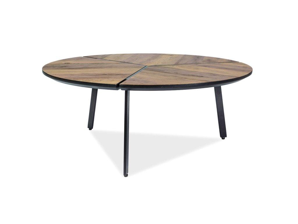Konferenční stolek, ořech / černá, REM 86X86X35